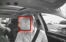 Driver's head is tracked