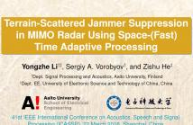 Jammer suppression, MIMO radar, Space-time adaptive processing