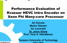 Performance Evaluation of Kvazaar HEVC Intra Encoder on Xeon Phi Many-core Processor