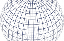 2-sphere wireframe as an orthogonal projection