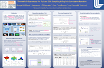 Theoretical guarantees for Poisson disk sampling using pair correlation function