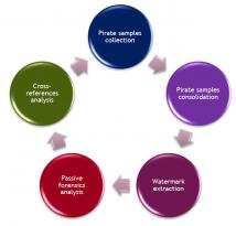 Piracy forensic workflow