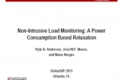 Non-Intrusive Load Monitoring: A Power Consumption Based Relaxation